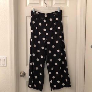 Zara polka dot wide leg pants